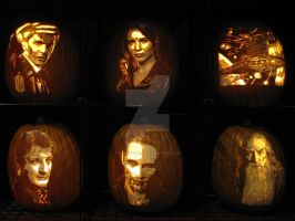 Carved Pumpkins by ShipperTrish