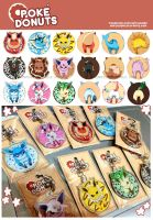 [Pre-Order]Poke Donuts: Eeveelution Acrylic Charms by seiryuuden