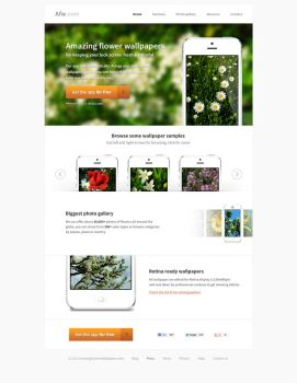 Column - Template for iPhone app website by alesnesetril