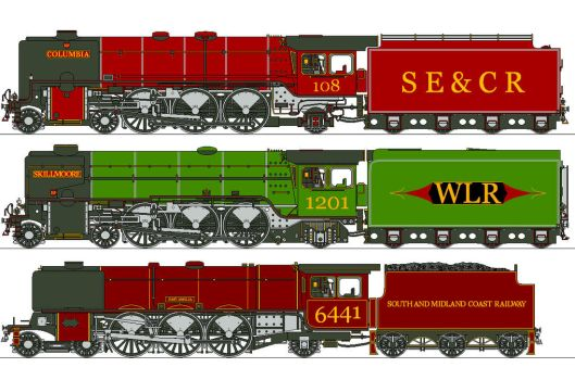 Pre-Grouping LNWR 4-6-2s by Lapeer