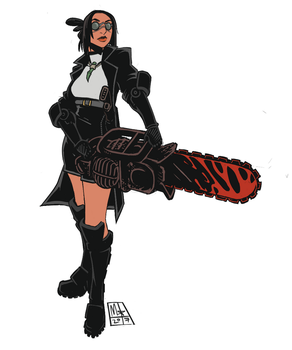 Hope You Know I Pack A Chainsaw by Lord-Of-The-Guns