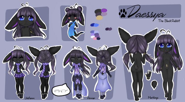 Daessya ref sheet by Nyvokarts