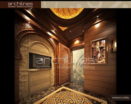 Arab House Tours - Entrance Lobby interior design by mohamedmansy