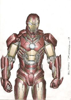 Iron Man sketch color by eltonramalho