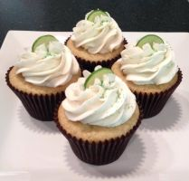 Vanilla Key Lime Cupcake by Deathbypuddle