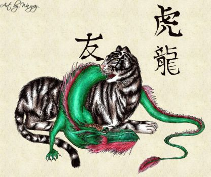 Zodiac - Tiger and Dragon by Wayvy