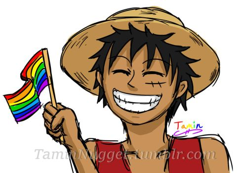 Gay Pride Luffy by TaminFury
