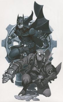 Batman and Hellboy by ChristopherStevens