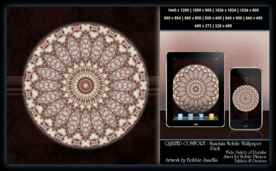 QUILTED COMFORT Mandala Mobile Wallpaper Pack by StitcherLadyxx