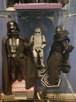 hot toys collection vader storm trooper and kylo  by yorkshirepudding1990