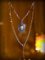 Honey Egyptian style necklace with Jasper Osiris by Johanna-Ferrius