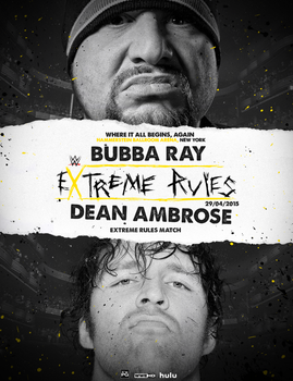 EXTREME RULES - WWE FANTASY POSTER by realtita14