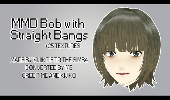 MMD - Watchers Gift - Bob with Straight Bangs + DL by IamMaemi