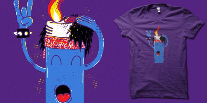 flame on t-shirt by biotwist