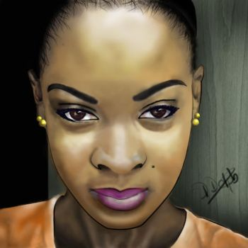 Digital Portrait - Phylicia by D-Dolphy