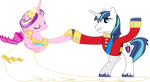 Princess Cadance and Shining Armour Dancing (3) by 90Sigma
