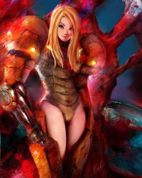 Samus by OnishinX