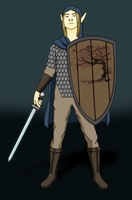 Elven Paladin by ElTole1990