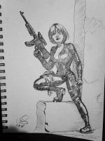 DOMINO Sketch-a-day  January  8, 2015 by HooliganAlley
