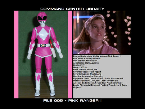 Command Center Library File 005 - Pink Ranger I by Scorcher27