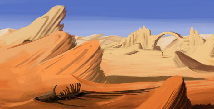 On the Desert by Niellala
