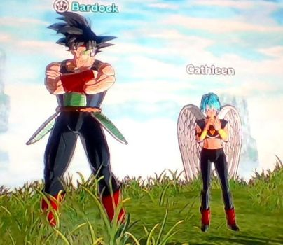Bardock and Cathleen by CatCamellia
