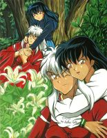 Inuyasha and Kagome by Yamigirl21