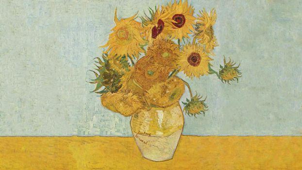 Van Gogh's Sunflowers with for Amy (Doctor Who) 2 by rrpjdisc