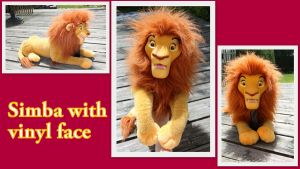 Puppet Simba with vinyl face by Laurel-Lion
