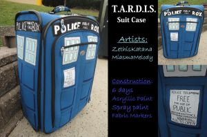 Doctor Who: TARDIS Suitcase by MiasmaMelody