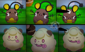 Cuteness Overload - Shiny Dedenne and Swirlix