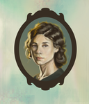 So I just painted a portrait by Domisea
