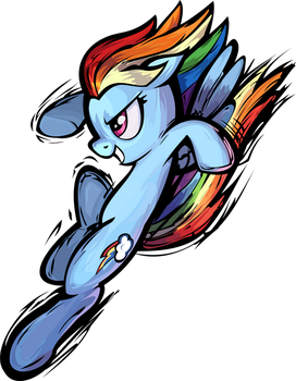 Fighting Is Magic Rainbow Dash Vector by anonymousnekodos