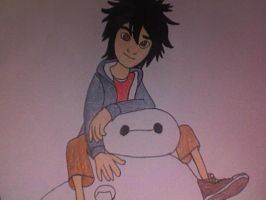 Hiro Hamada and Baymax as Best Friends by Kailie2122