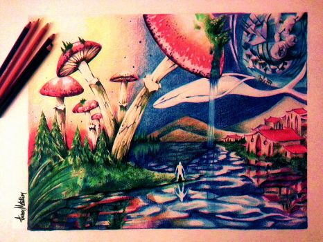 Swamp Narkhshire (Color Pencils). by AaronMetallion