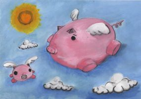 When pigs fly... by brunokoi