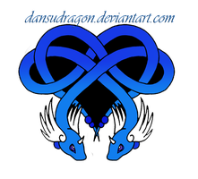 Celtic Dragonair Heart Tattoo