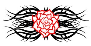 tribal rose 2 by KatieConfusion