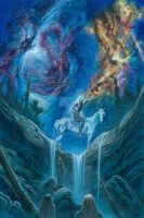 Orome Discovers the Lords of the Elves by KipRasmussen