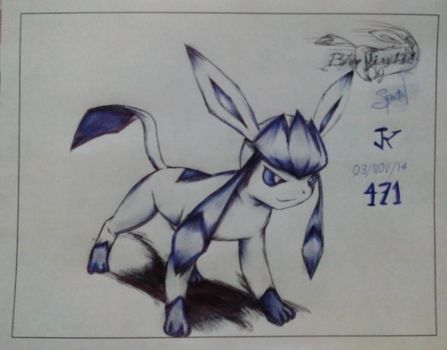 Glaceon tribute bluekiss131 by karenlover2403
