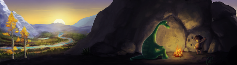 'One World' - The Good Dinosaur Contest Entry by alexrcreamer