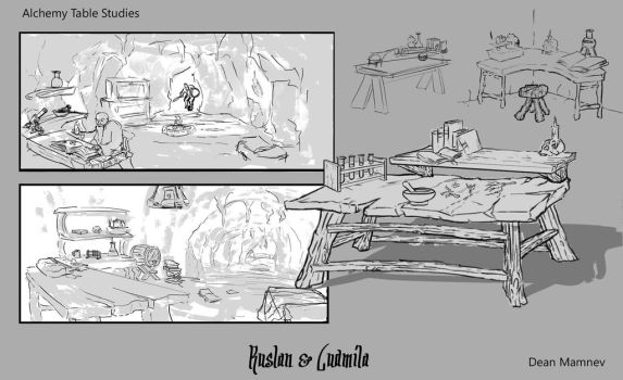 Alchemy Table Studies by DrD-no