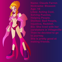 Claude Farron Blossom Character Card by Keytee-chan