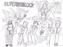 Superwholock by redbirthday