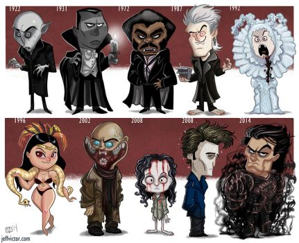 The Evolution of the movie vampire by JeffVictor
