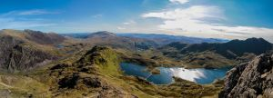 Panoramic view of Snowdonia by Geater
