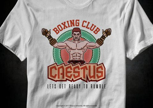 Caestus Boxing Club T-Shirt by TrexycaArtworks