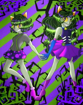meulin and nepeta makara (homestuck bloodswap) by novastarback