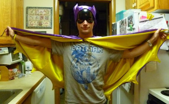 Batgirl Cape Hood Mask Test 3 by Linksliltri4ce