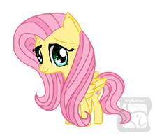 Chibi Fluttershy by IcyPanther1